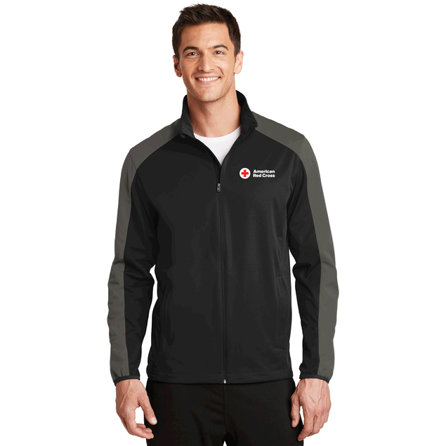 Men's Active Colorblock Soft Shell Jacket