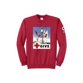 Crewneck with Vintage GIVE posters