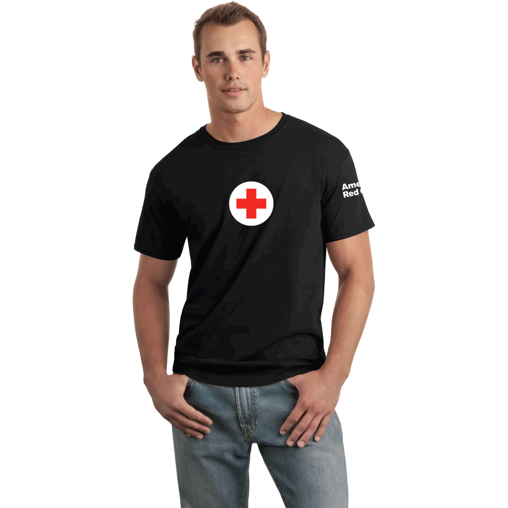 2a1e534ee Unisex 100% Cotton Classic T-Shirt with American Red Cross Logo