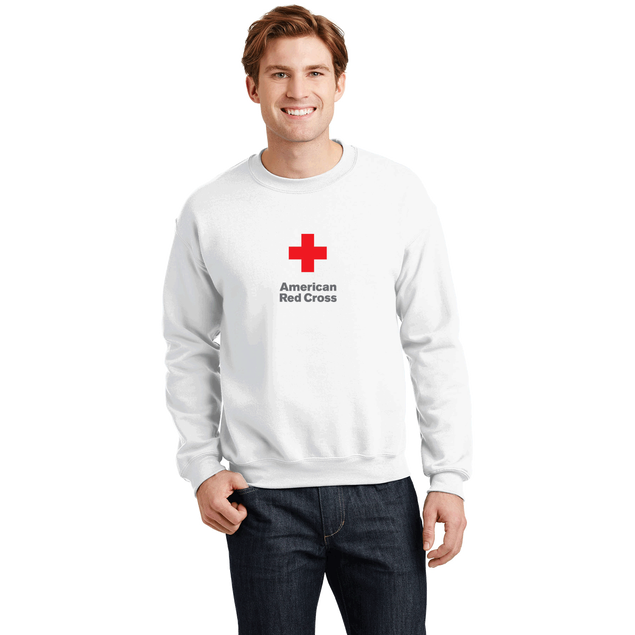 Unisex Crew Neck Sweatshirt with American Red Cross Logo