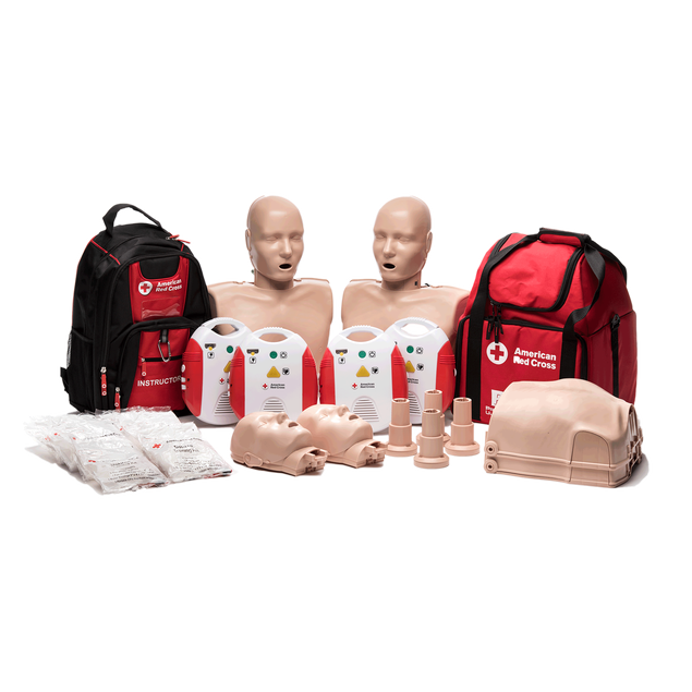 Adult CPR/AED & First Aid Instructor Starter Kit with New AED Trainer