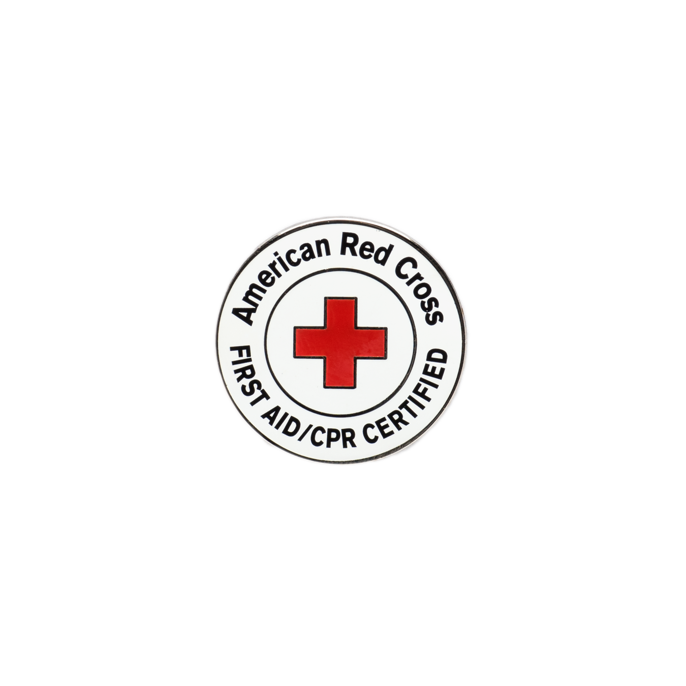 Red Cross First Aid/CPR Certified Lapel Pin Pk/10