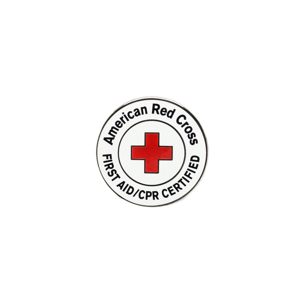 Red Cross First Aidcpr Certified Lapel Pin Pk10