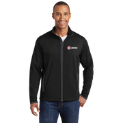 Men's Moisture-Wicking Stretch Contrast Zip Up Jacket