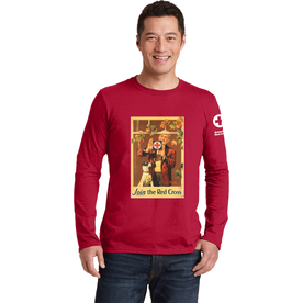 Unisex Long Sleeve T-Shirt with Rockwell Window Vintage Print