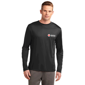 Unisex Performance Long Sleeve T-Shirt with American Red Cross Logo