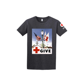 Tee Shirt with GIVE vintage print