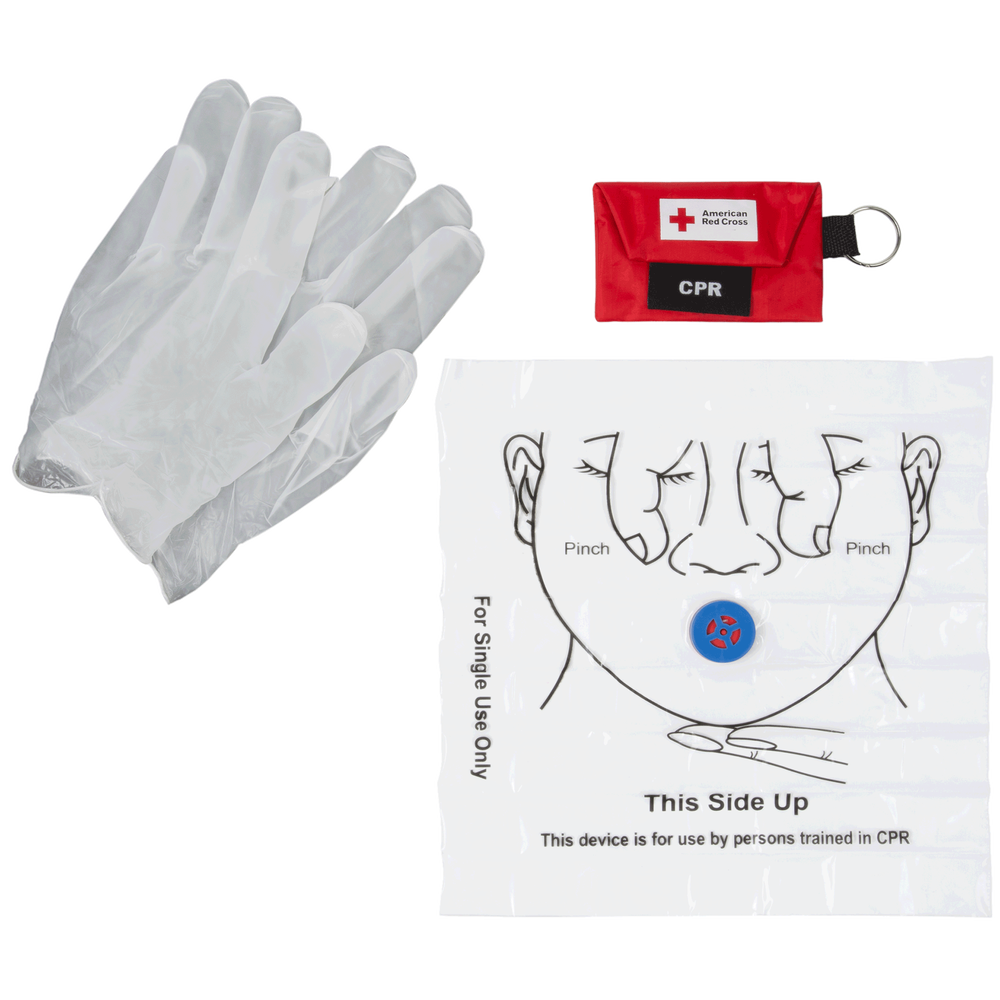 Cpr first aid medical training supplies red cross store cpr keychain with face shield and gloves 1betcityfo Gallery