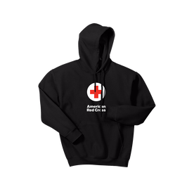 Hooded Pullover Sweatshirt with American Red Cross logo