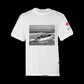 Men's Rash Guard Short Sleeve Shirt - Life Guard CorpsVintage Print