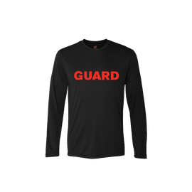 Men's Rash Guard Long Sleeve Shirt - GUARD Print