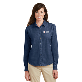 Women's Port & Company Long Sleeve Value Denim Shirt