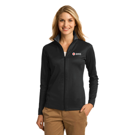 Women's Full-Zip Jacket with Vertical Texture