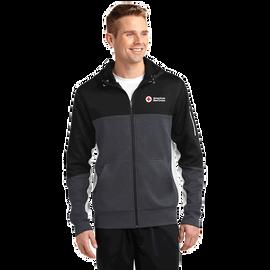 Colorblock Full-Zip Hooded Jacket - Mens