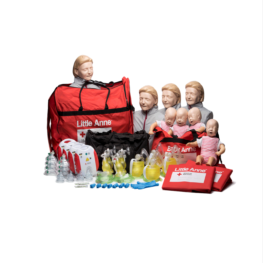 American Red Cross Bls Instructor Starter Kit With New Aed Red