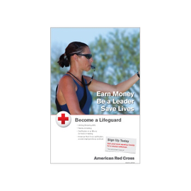 Lifeguarding Participant Recruitment Poster - Female Guard