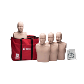 Adult Jaw Thrust CPR Manikins with CPR Monitors - 4 Pack