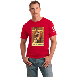Tee Shirt with Rockwell Window vintage print