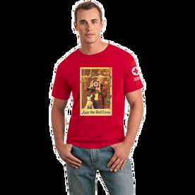 Tee Shirt with Rockwell Window vintage print