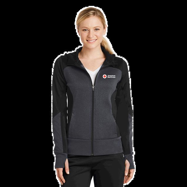 Women's Colorblock Zip Up Hooded Jacket