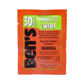 Ben's® 30 Insect and Tick Repellent Wipes 12 Pack