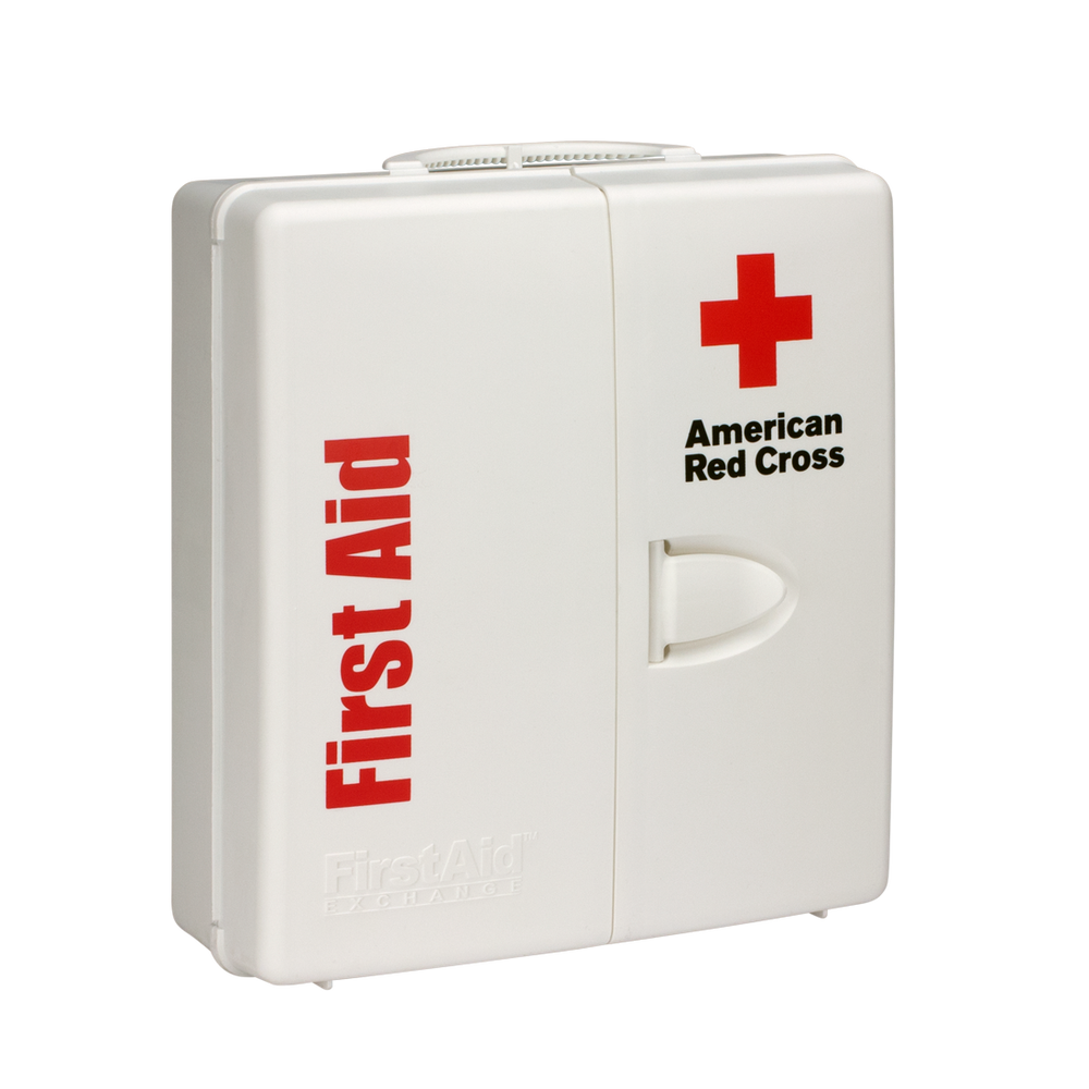 Large Workplace First Aid Kit with Plastic Cabinet | Red