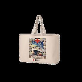Jumbo tote bag with Vintage JR. BOAT poster