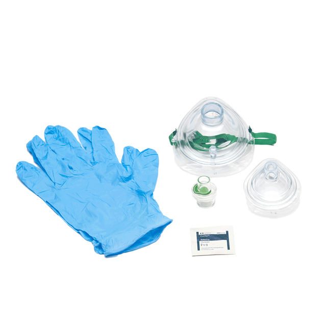 Adult and Infant CPR Mask in Poly Bag