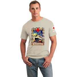 Tee Shirt with Jr. Red Cross Boat vintage print