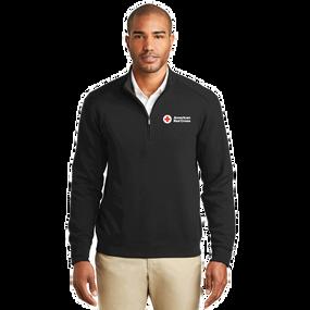 Men's Port Authority Double Knit Quarter Zip Up Long Sleeve Shirt