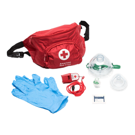 Lifeguard Hip Pack with Adult CPR Mask, Infant CPR Mask and Whistle