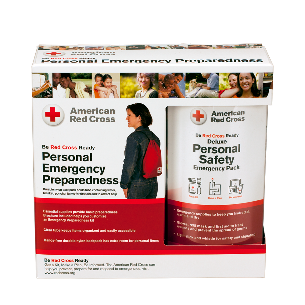Deluxe personal safety emergency pack with bag red cross store images 1betcityfo Choice Image