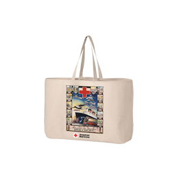 Jumbo tote bag with Vintage JR. BOAT poster