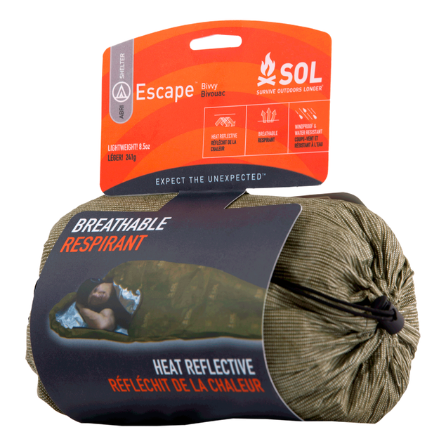 Survive Outdoors Longer Escape Breathable Bivvy OD Green