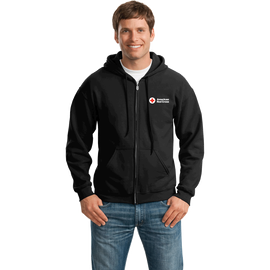 d7302a3a01c4 Unisex Zip Up Hoodie with American Red Cross Logo