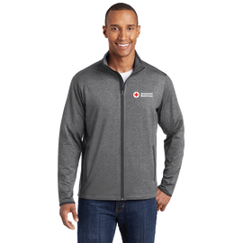 Moisture-Wicking Stretch Contrast Zip Jacket