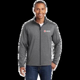 Moisture-Wicking Stretch Contrast Zip Jacket