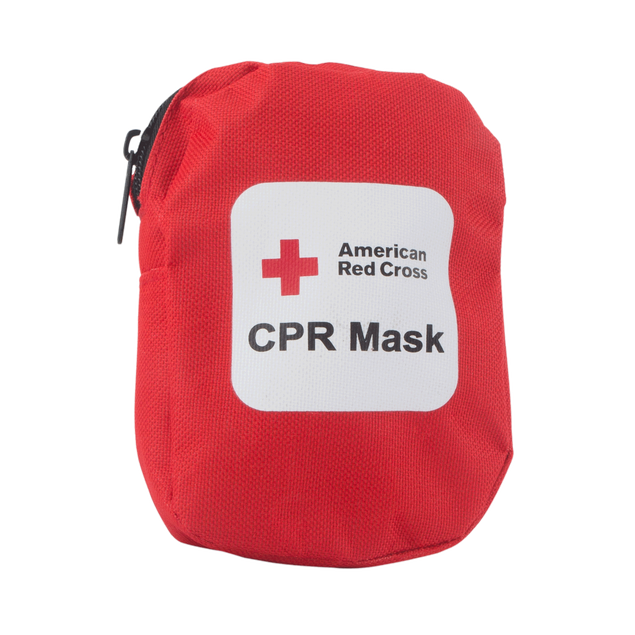 Red Cross CPR Mask, Soft Case