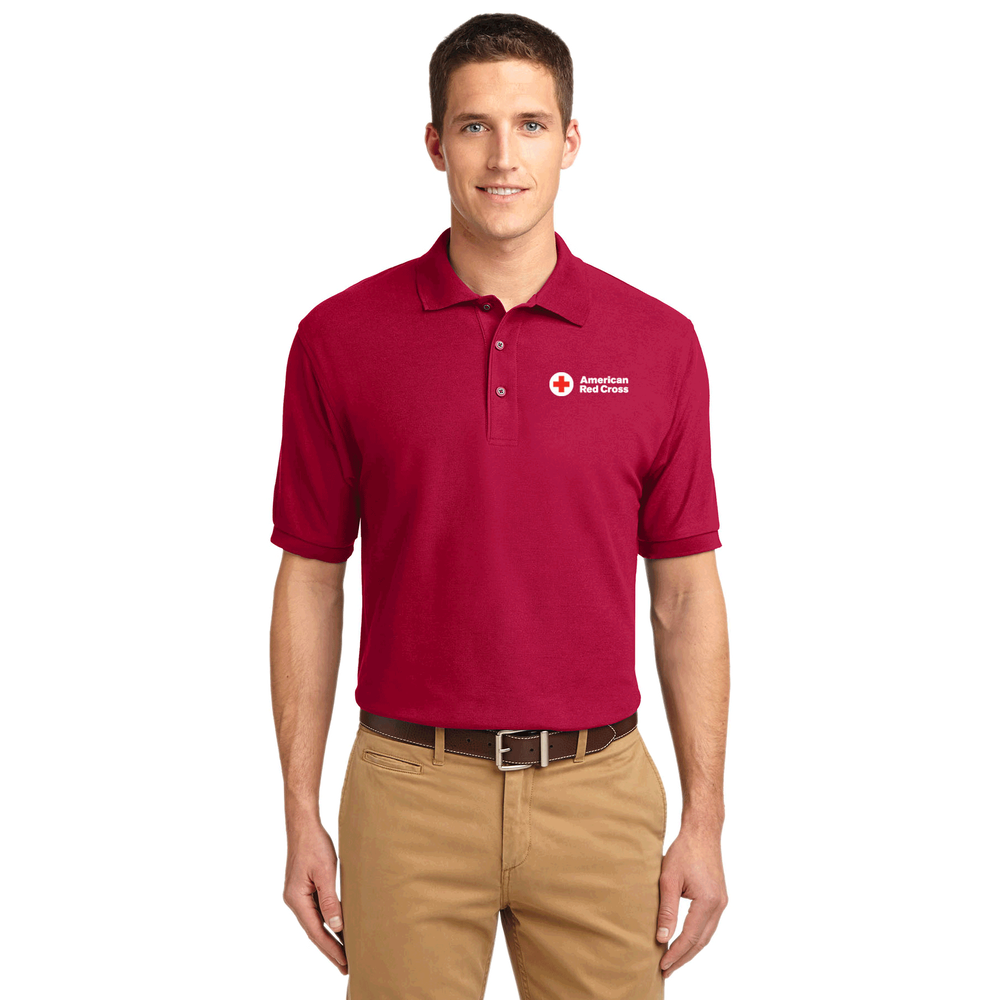Mens Cotton Polo Shirt Red Cross Store