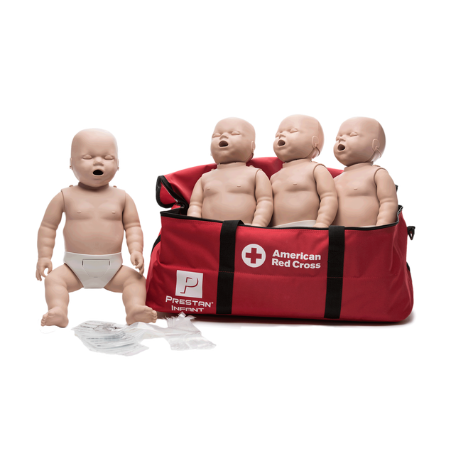 Medium Skin Infant Manikins 4-Pack without CPR Monitor