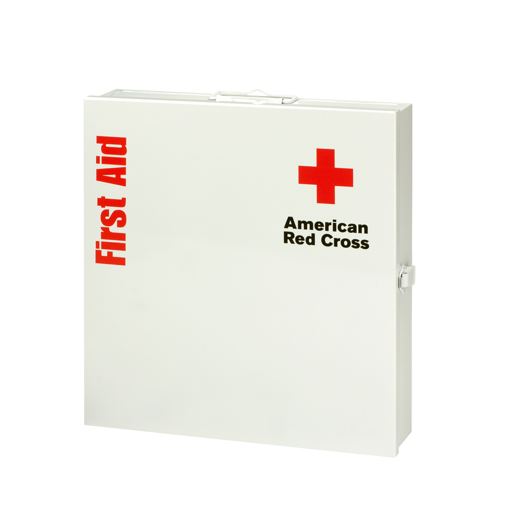Large workplace first aid kit with metal cabinet red cross store images xflitez Image collections