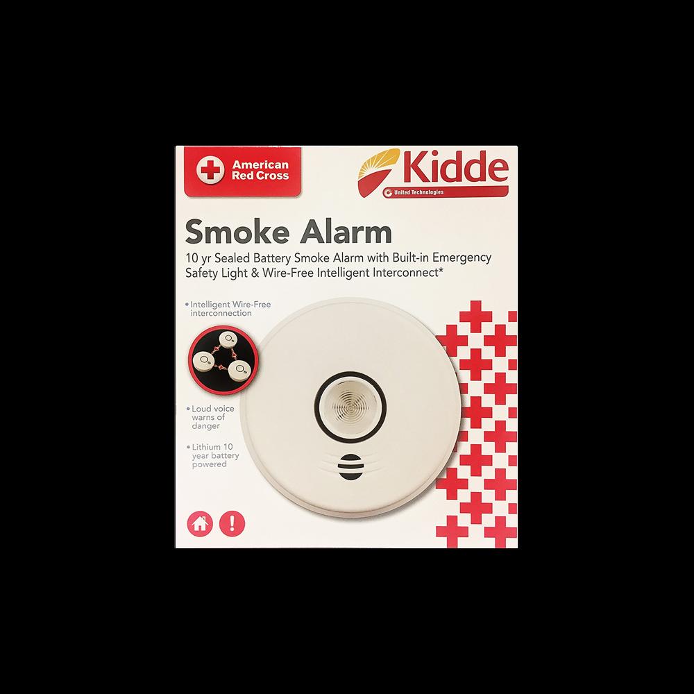 Kidde Wireless Interconnected Smoke Alarm Red Cross Store