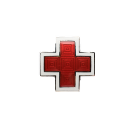 Red Cross Cloisonne Pin