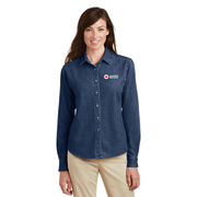 Women's Port & Company Long Sleeve Value Denim Shirt
