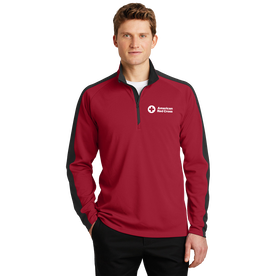Colorblock Quarter Zip Pullover