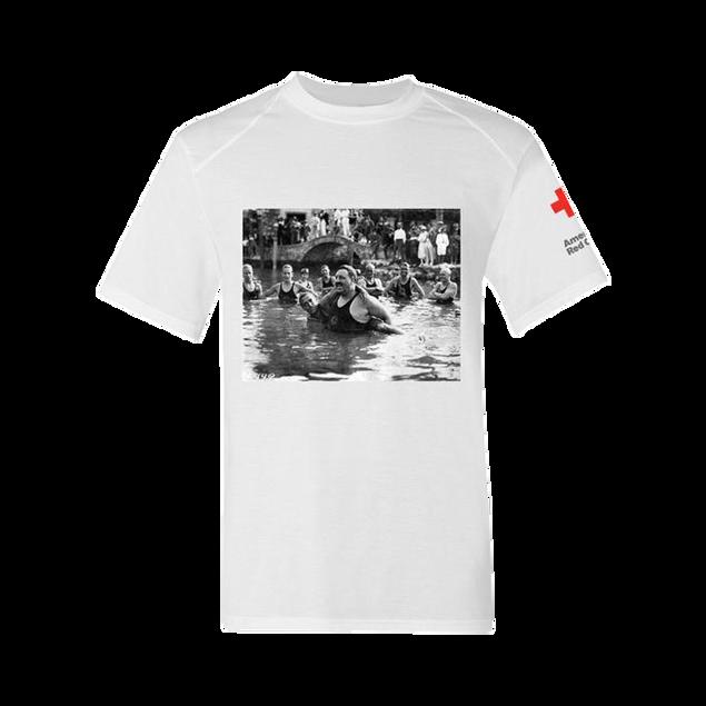 Men's Rash Guard Short Sleeve Shirt - Commodore LongfellowVintage Print