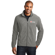 Men's Heather Microfleece Zip Up Jacket
