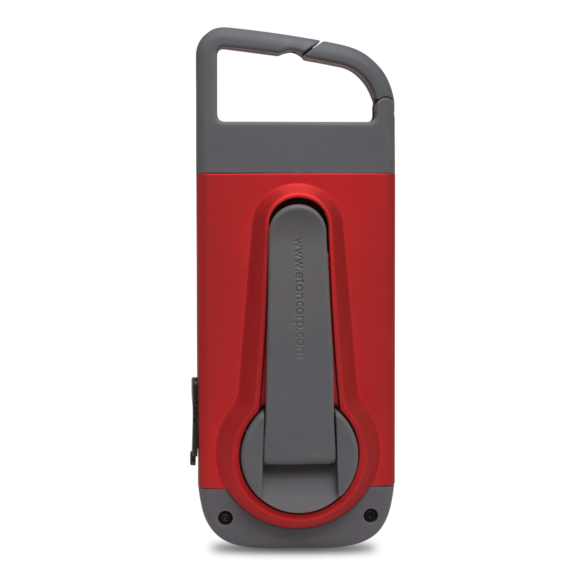 The American Red Cross Clipray Crank-Powered Clip-On Flashlight And Smartphone