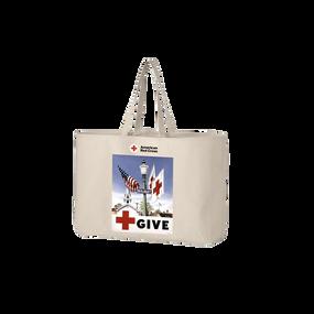 Jumbo tote bag with Vintage GIVE poster
