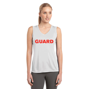 Women's V-Neck Tank Top - GUARD Print